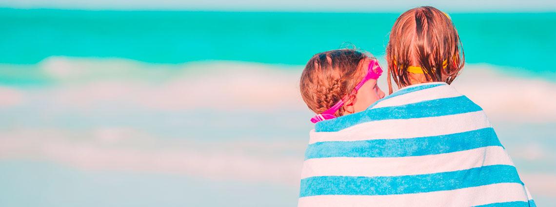 Toallas de playa para niños pequeños